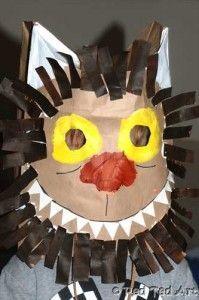 wild thing paper bag mask craft