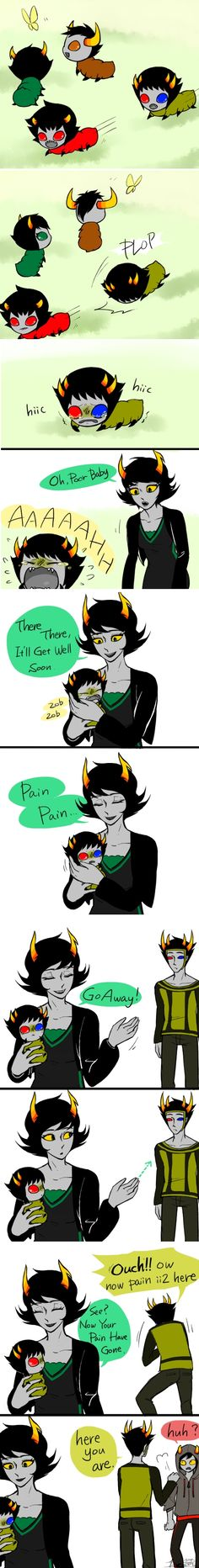 That's so cute Grub's every where. Okay I'm not a homestuck fan but I like this Homestuck Grubs, Homestuck Comic, Homestuck Trolls, Home Stuck, Davekat, And So It Begins, Kawaii, Creepypasta, Nerdy