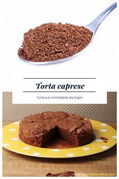 Ricetta torta caprese originale da Capri #torta #ricetteitaliane #ricetta #ricette