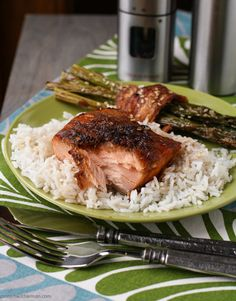 Salmon with maple ginger glaze