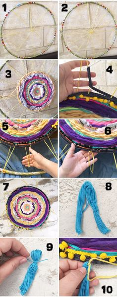 Diy and crafts. Crafts For Teens, Crafts To Sell, Diy And Crafts, Diy Sewing Projects, Craft Tutorials, Recycler Diy, Diy Tapis, Deco Boheme, Diy Couture