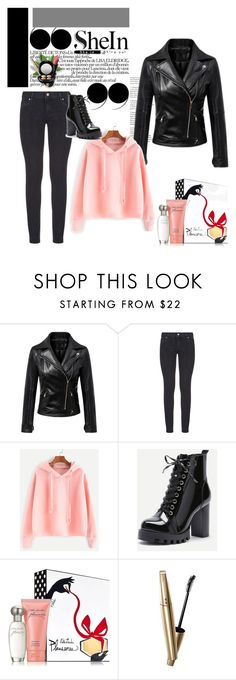 """""""shein"""" by mediva-284 ❤ liked on Polyvore featuring Paige Denim, Estée Lauder, Wet n Wild, VOV and MAC Cosmetics"""