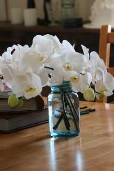 My wedding bouquet flowers- white phalenopsis orchids