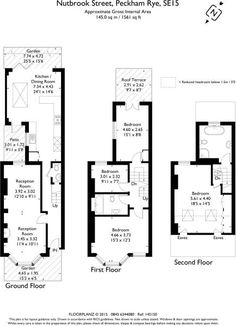 4 bedroom terraced house for sale in Nutbrook Street, Peckham Rye, London, - Rightmove Victorian Hallway, Victorian Townhouse, Victorian Terrace, Victorian Homes, House Layout Plans, House Layouts, House Floor Plans, House Extension Plans, House Extension Design