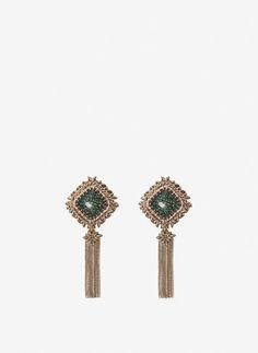 Pompom earrings - View all - Jewellery - Uterqüe Spain