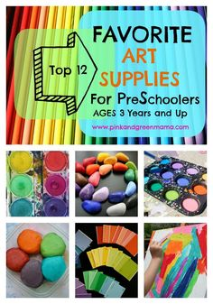 Making Art At Home: My Favorite Art Supplies for Preschoolers (3 and up)