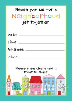 block party invite - Google Search | IDEAS | Pinterest | Block ...