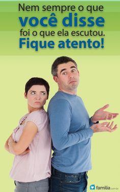 Familia.com.br   Como evitar dizer as coisas erradas para sua esposa #Casamento #Comunicação #Relacionamento