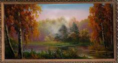 Утро в осеннем лесу - Осенний пейзаж <- Картины маслом <- Картины - Каталог | Универсальный интернет-магазин подарков и сувениров