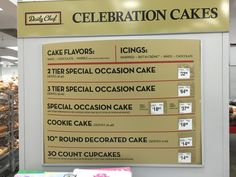 Sams Club Hoover Alabama Cake Cupcake And Cookie Prices Serving Sizes January 2016