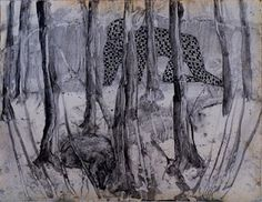 Hans Lemmen   Untitled, 2011  ink on paper  315 x 235 cm