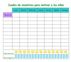 TABLAS DE CONDUCTA O INCENTIVOS:          RECOMPENSAS:       EMOTICONOS: