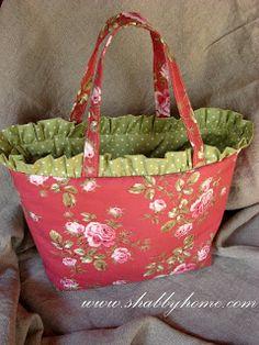 Shabby Home // ruffle bag