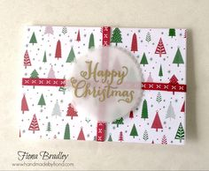 Happy Christmas - Oh What Fun - Be Merry DSP - Stampin' Up! - Fiona Bradley