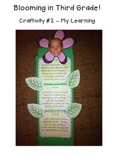 Spring Writing Craftivity $ http://www.teacherspayteachers.com/Product/Spring-Writing-Craftivity-Were-Blooming-587973