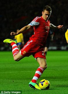 On the ball: Calum Chambers is another Southampton academy product to come through the ranks