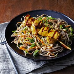 Buckwheat Noodles With Thai Grilled Chicken