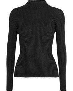 Markus Lupfer - Black Rosie Metallic Ribbed-knit Sweater - Lyst Markus  Lupfer d0ad11016
