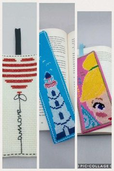 Bookmarks 3 Pack / Fairy Tinker Bell / Peter Pan / Disney / Amore / Heart / Lighthouse / Gift