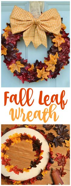 This is an oldie, but a few years ago I made this fun Fall Leaf Wreath as part of a contributor post for Real Housemoms. Today I thought I'd resurrect this Easy Fall Wreath and show how even the least crafty person can create a gorgeous statement piece for their front door for fall! See …