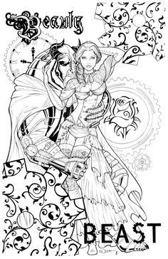Steampunk Beauty and the Beast by SorahShibao.deviantart.com on @deviantART