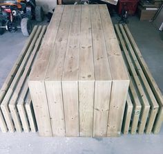 Modern Garden Furniture, Wood Furniture, Outdoor Furniture, Outdoor Decor, Outdoor Table Plans, Grill Table, Backyard Landscaping, Landscape Design, Outdoor Living