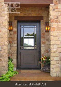 American wrought iron door designs