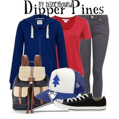 """Dipper Pines"" by leslieakay on Polyvore"