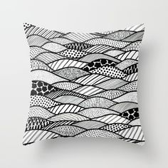 Sicilia Throw Pillow by laurafrere Black White Pattern, White Patterns, Black And White, Graphic, Illustration, Throw Pillows, Home Decor, Pattern, Drawing Drawing
