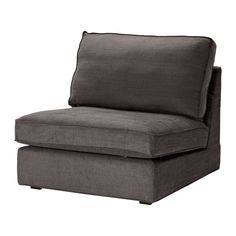 IKEA - KIVIK, Cover one-seat section, Tullinge gray-brown, , The cover is easy to keep clean as it is removable.Durable cover of chenille quality with a slight sheen and a soft feel.