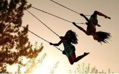 Something about swings no matter how old you are
