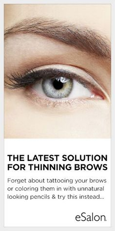 Introducing eSalon's Brow Enhancing Serum! This brow booster is enriched with SymPeptide® and natural plant extracts to help brows appear fuller, healthier and more youthful. Brush on daily and see how easy it is to bring your brows back.