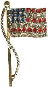 Flag pin made with world class quality Austrian crystals for a beautiful, brilliant sparkle. Made in the U.S.A. $11.00