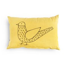 Rectangular Bird Print Scatter Cushion - woolworths