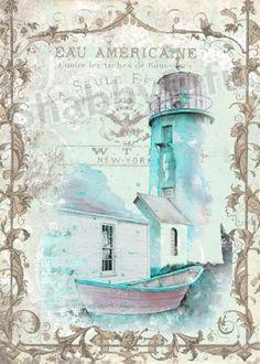 Waterside Villa 8 x 10 Waxed Canvas Print..pretty!