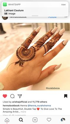 Best Henna Brand for Tattoos . Best Henna Brand for Tattoos . Mehndi Designs For Fingers, Mehndi Art Designs, Latest Mehndi Designs, Mehndi Patterns, Simple Mehndi Designs, Henna Tattoo Designs, Finger Mehendi Designs, Henna Tatoos, Henna Art