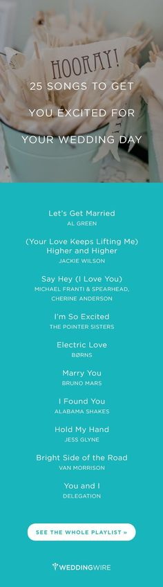 We love a good wedding playlist! Here are 25 Songs to Get you Excited for Your Wedding Day {Brooke Images}
