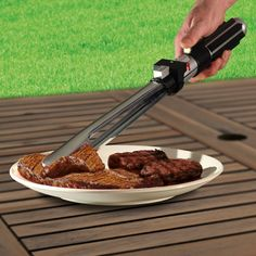 Darth Vader's BBQ tongs flip burgers with Force via @CNET