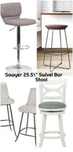 "Sawyer 25.5"" Swivel Bar Stool ,  ,  #bar #Sawyer #Stool #swivel Counter Bar Stools, Swivel Bar Stools, Sleeve, Furniture, Home Decor, Manga, Decoration Home, Room Decor, Counter Height Stools"