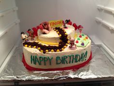 Wreck It Ralph birthday cake! That we made. :)