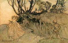 "Original Watercolour for ""A Midsummer Night's Dream"" by RACKHAM, Arthur - Jonkers Rare Books"