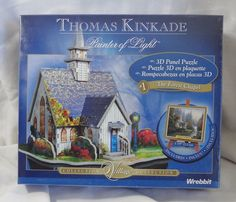 Thomas Kinkade Forest Chapel 3D Jigsaw Puzzle 37 Piece Wrebbit New Sealed