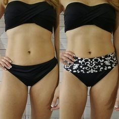 Change the look of your bikini and cover that hard to tame lower belly area with the Bikini Band.   Get yours at www.etsy.com/shop/bikiniband