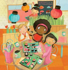 silly sushi selfie Laura Watson Illustration more at www.w-illo.com