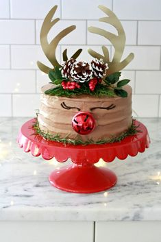 ThisRudolph cakeis an adorable addition to the holiday table.