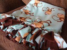 Easy DIY Fleece Tie Blanket