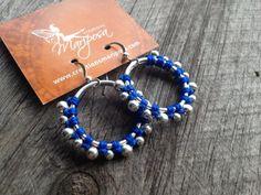 Macrame gypsy earrings silver tone - Custom order - boho bohemian  women jewelry micromacrame