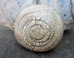 Faux Raku Large Swirl Focal by SLArtisanAccents on Etsy,