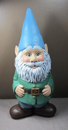 Ceramic Gnome Statue Home or Garden Very Cute by TeresasCeramics, $40.00