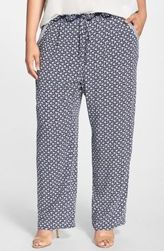 Two+by+Vince+Camuto+'Rabat+Flower'+Wide+Leg+Pants+(Plus+Size)+available+at+#Nordstrom